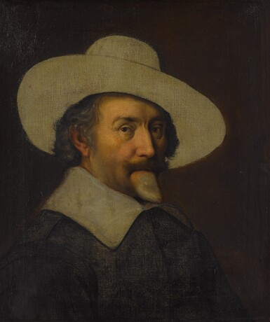 View 2. Thumbnail of Lot 25. Portrait of a man, bust length, with a hat, unfinished.