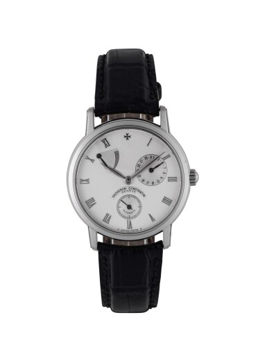 VACHERON CONSTANTIN | REF 47200 WHITE GOLD WRISTWATCH WITH DATE AND POWER RESERVE INDICATION CIRCA 1998