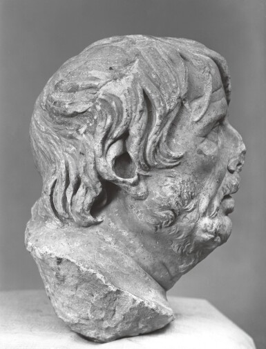 View 5. Thumbnail of Lot 39. A ROMAN MARBLE HEAD OF A GREEK POET, PROBABLY HESIOD, CIRCA 1ST CENTURY A.D..