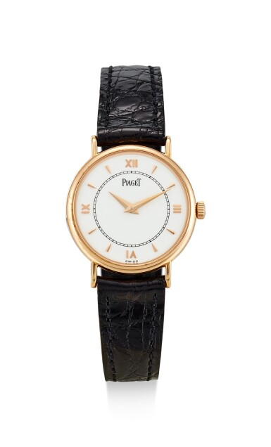 PIAGET | REFERENCE 8005N, A LIMITED EDITION PINK GOLD WRISTWATCH, MADE TO COMMEMORATE THE 120TH ANNIVERSARY OF PIAGET, CIRCA 1997