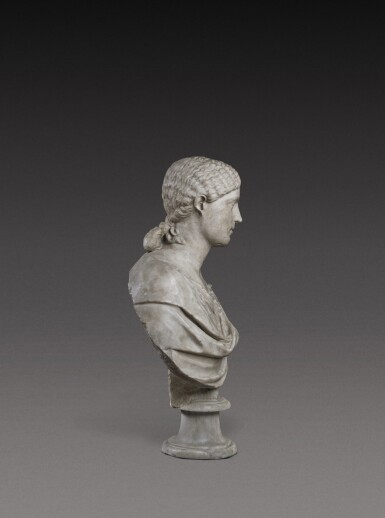 View 4. Thumbnail of Lot 72. A Roman Marble Portrait Bust of a Woman, Reign of Agrippina, circa A.D. 20-40.
