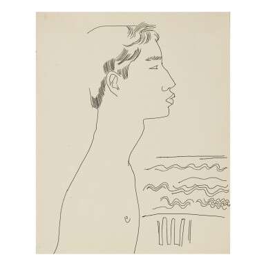 ANDY WARHOL | MALE PROFILE BY SEA