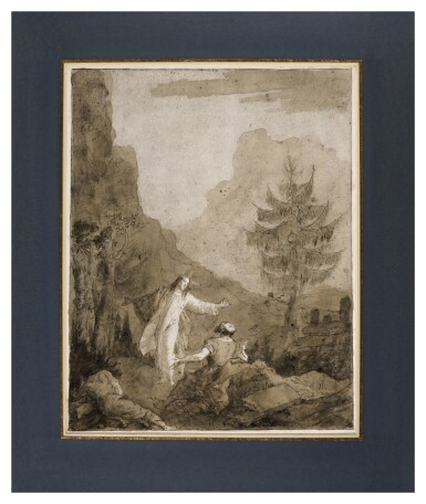 Christ at Gethsemane with Saints Peter, James, and John