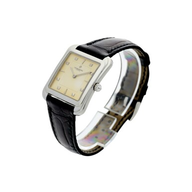 View 2. Thumbnail of Lot 53. REFERENCE 31100 TOLEDO A PLATINUM SQUARE SHAPED WRISTWATCH, CIRCA 1993.