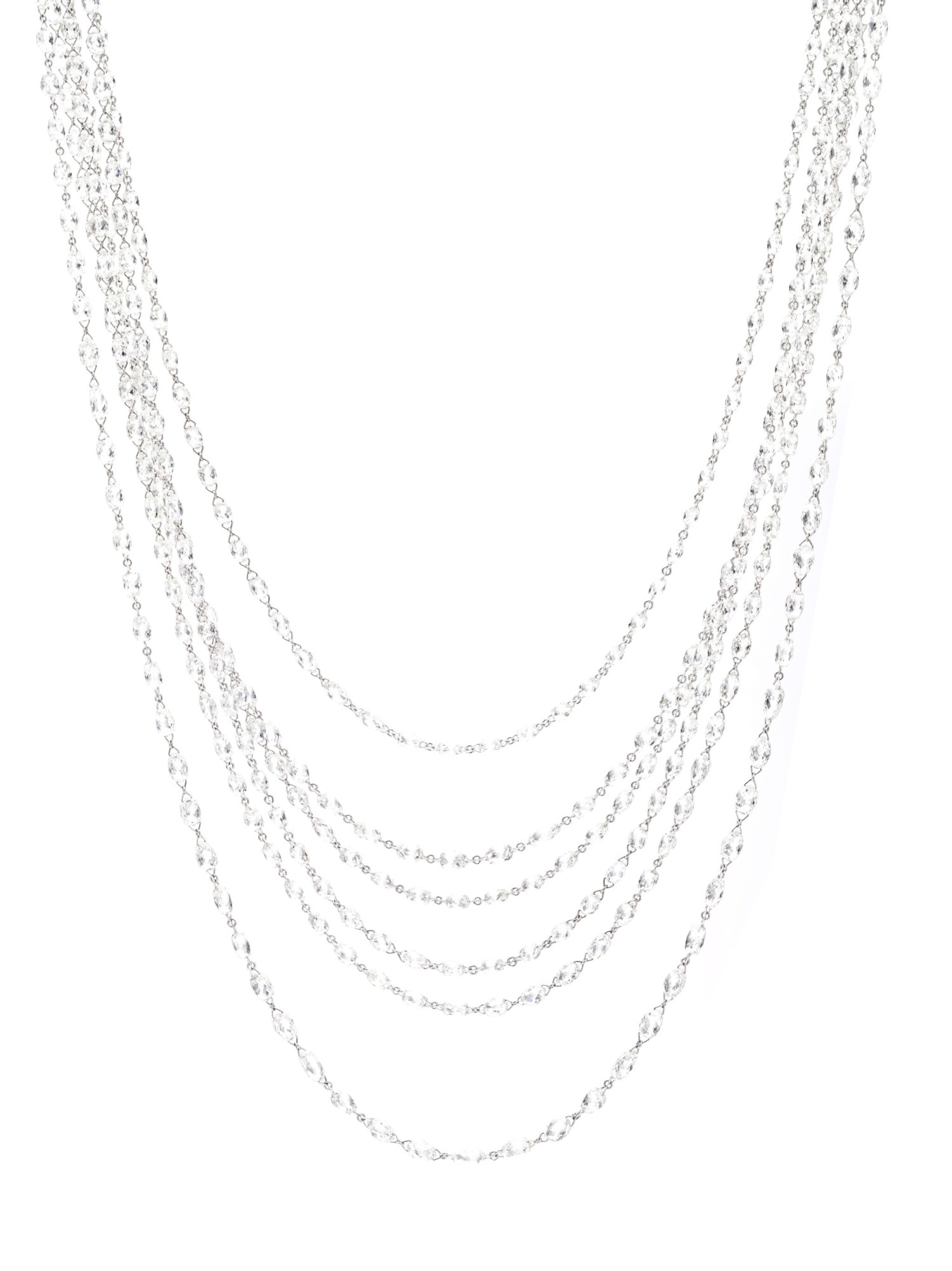 View full screen - View 1 of Lot 716. Chopard | Three briolette diamond sautoirs | 蕭邦 | 鑽石長項鏈.