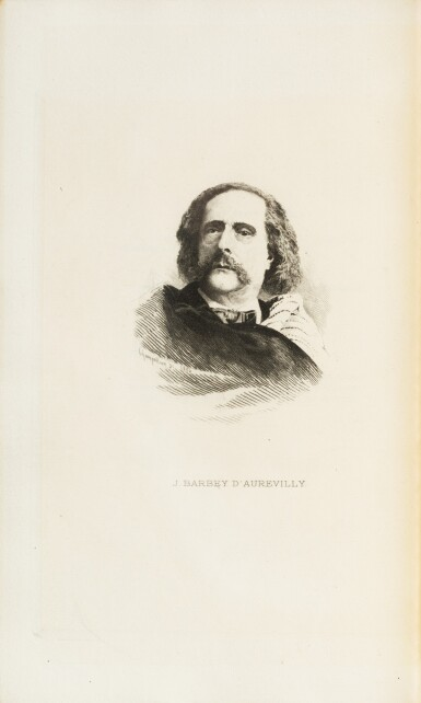 View 4. Thumbnail of Lot 67. Le Chevalier des Touches. 1886. Rel. japonisante, sur hollande avec envoi à Huysmans.