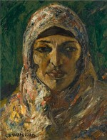 GEORGES HANNA SABBAGH | PORTRAIT DE FEMME ORIENTAL (PORTRAIT OF AN ORIENTAL WOMAN)