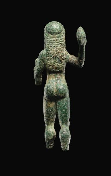 View 5. Thumbnail of Lot 7. A GREEK BRONZE FIGURE OF ZEUS, 6TH CENTURY B.C..