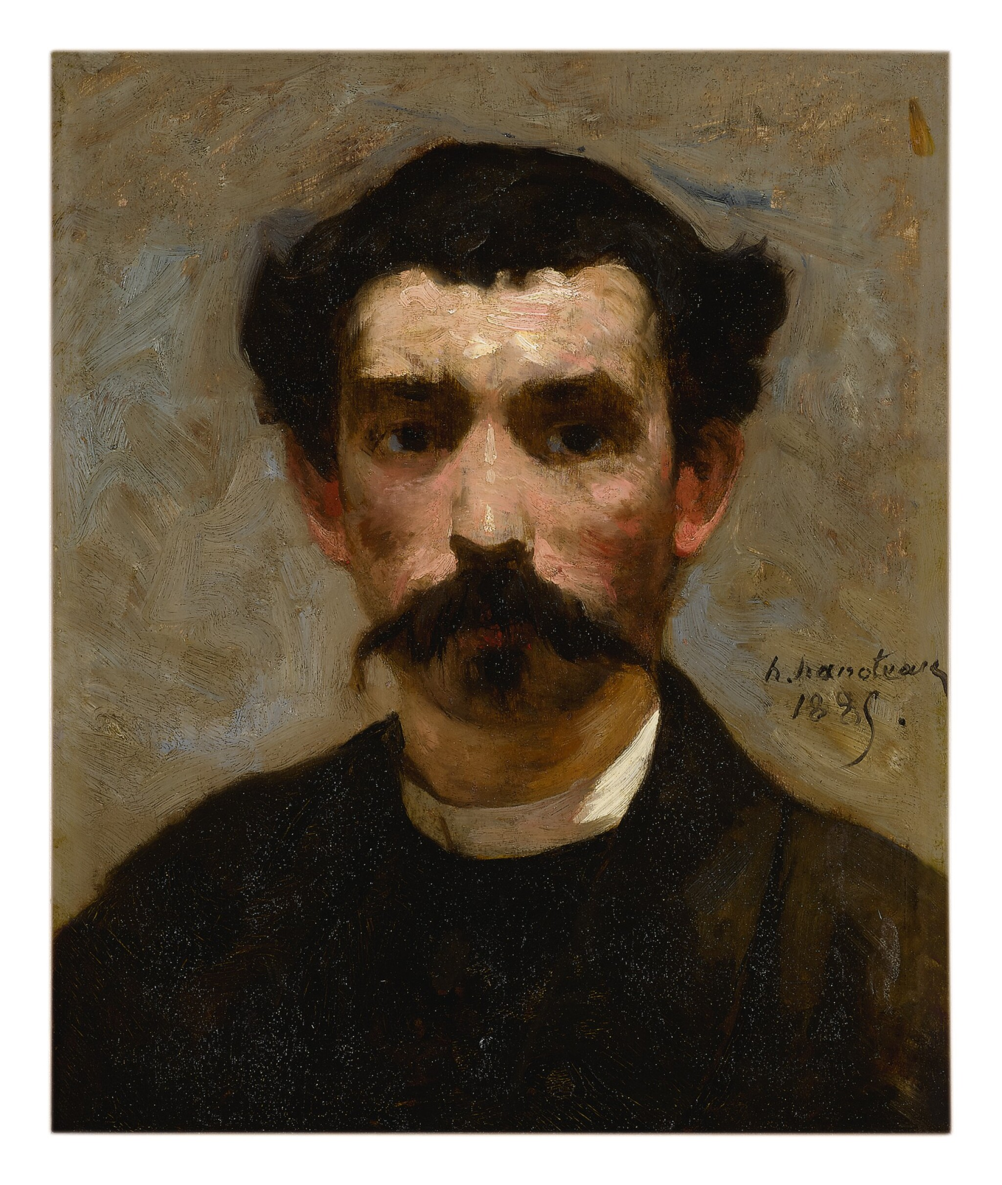 View full screen - View 1 of Lot 134. HECTOR HANOTEAU  |  PORTRAIT OF A MAN WITH A MUSTACHE.