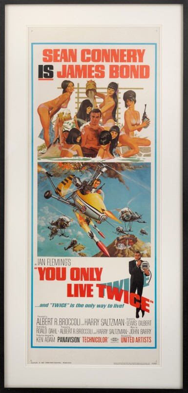 YOU ONLY LIVE TWICE (1967) POSTER, US