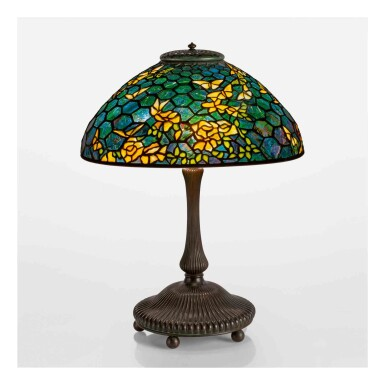 """View 1. Thumbnail of Lot 512. A Rare """"Butterfly"""" Table Lamp."""