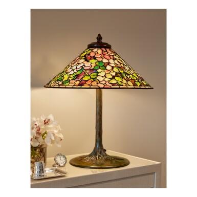 "View 1. Thumbnail of Lot 82. ""Dogwood"" Table Lamp."