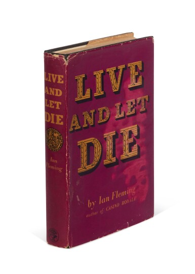 View 3. Thumbnail of Lot 11. FLEMING   Live and Let Die, 1954, first edition, presentation copy inscribed to Winston Churchill.