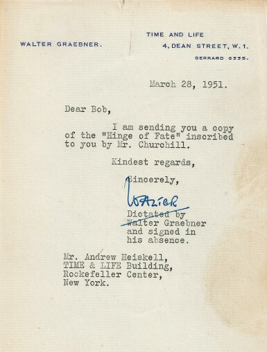 View 2. Thumbnail of Lot 66. Winston S. Churchill | The Second World War. Boston: Houghton Mifflin Company, 1948-1953.