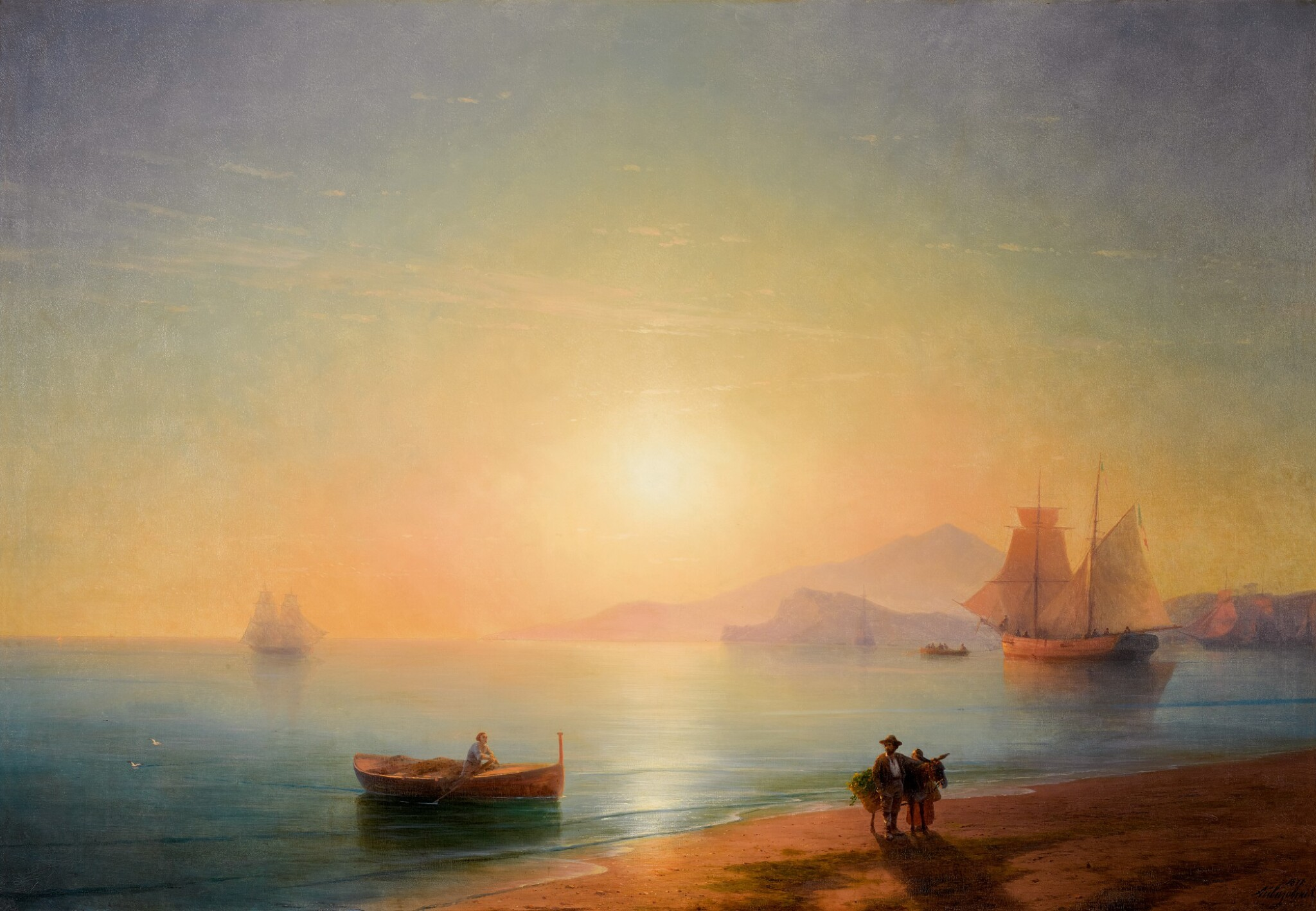View full screen - View 1 of Lot 29. IVAN KONSTANTINOVICH AIVAZOVSKY | THE BAY OF NAPLES.