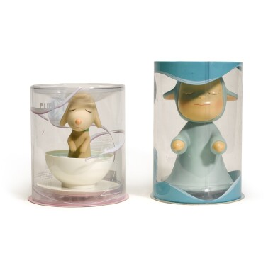 View 1. Thumbnail of Lot 50. YOSHITOMO NARA | THE LITTLE WANDERER; AND PUP CUP.