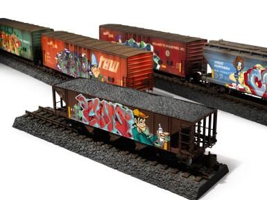 TIM CONLON | Five B-Boy G Scale Trains, 2020.
