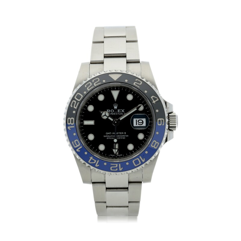 GMT-Master II 'Batman', Reference 116710  A Stainless Steel Automatic Dual Time Wristwatch with Date and Bracelet, circa 2018
