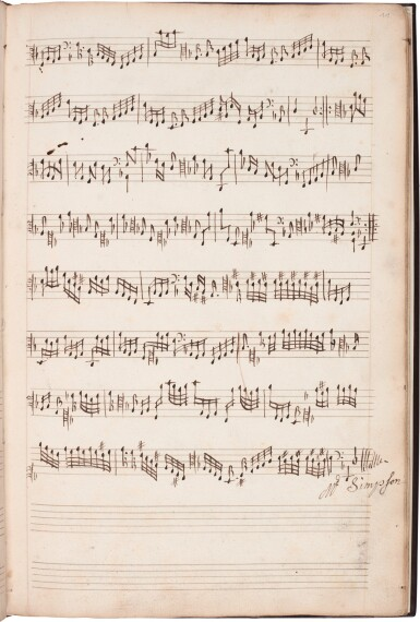 View 2. Thumbnail of Lot 123. Viola da gamba. Important 17th-century manuscript of divisions for solo bass viol by Norcombe, Simpson and others.