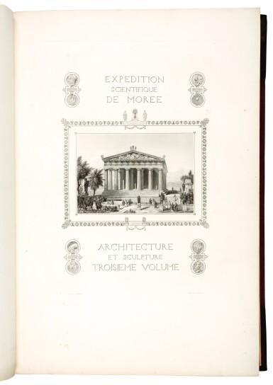 View 2. Thumbnail of Lot 160. Blouet | Expédition scientifique de Morée, 1831-1838, 3 volumes.