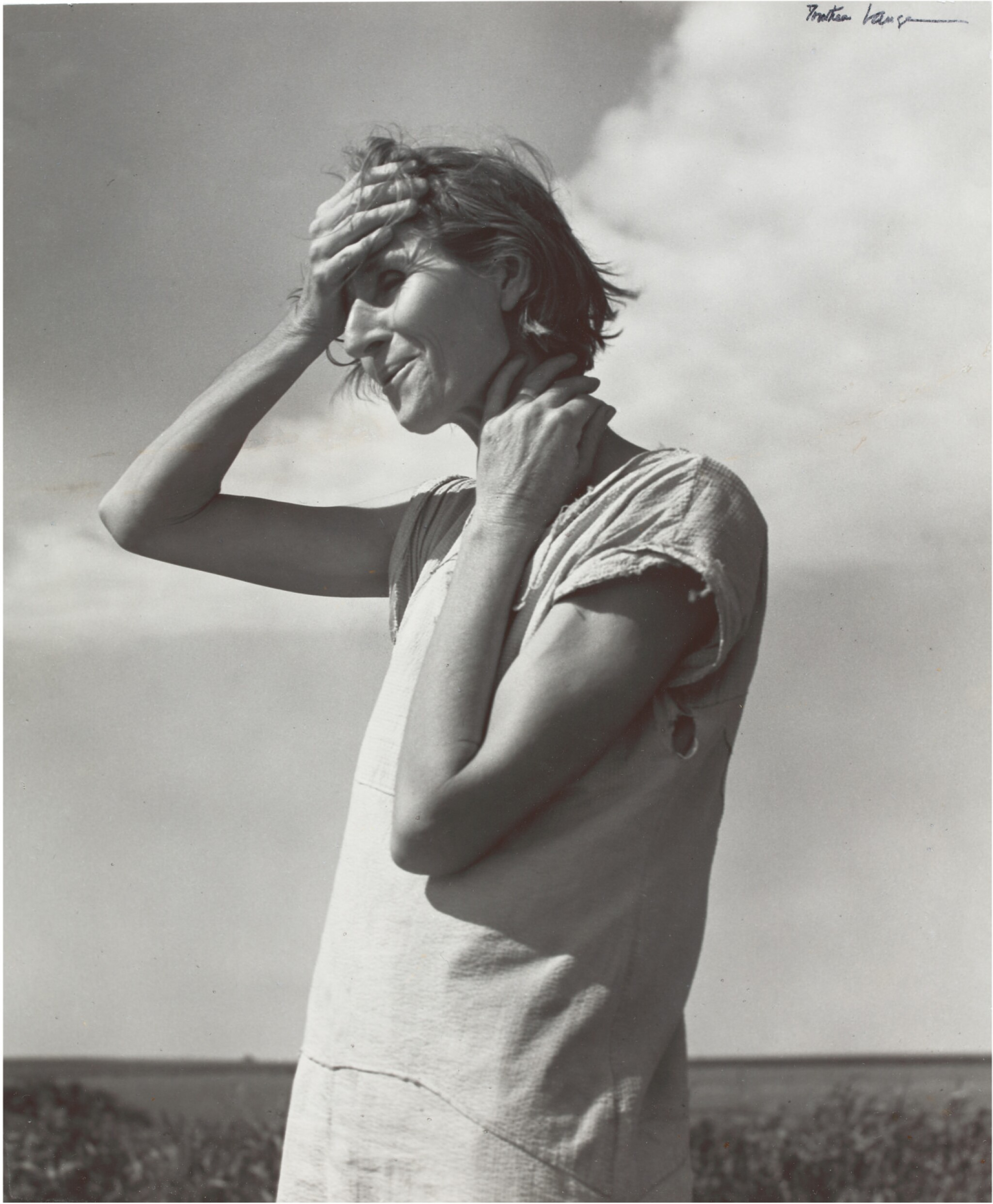 View full screen - View 1 of Lot 68.  DOROTHEA LANGE | WOMAN OF THE HIGH PLAINS, TEXAS PANHANDLE.