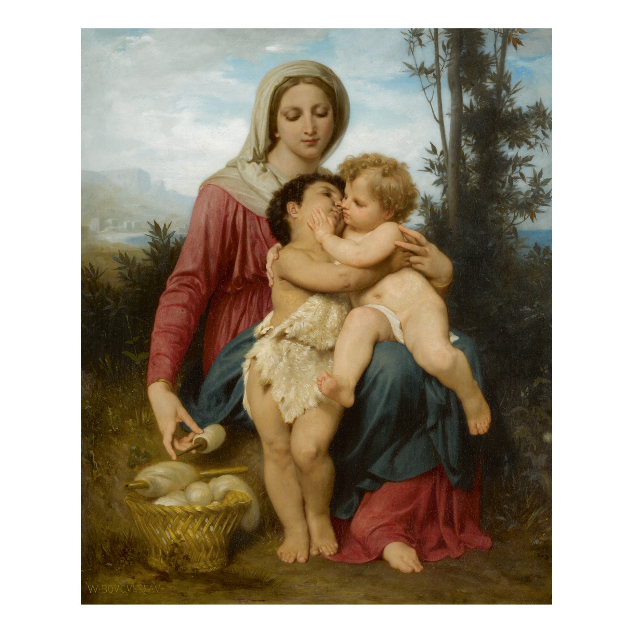 View full screen - View 1 of Lot 28. WILLIAM BOUGUEREAU | SAINTE FAMILLE (RÉDUCTION).