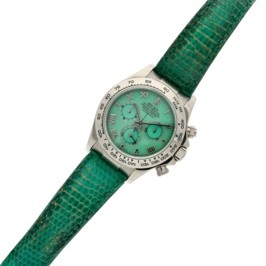 View 6. Thumbnail of Lot 208. Reference 116519 'Daytona Beach'  A white gold automatic chronograph wristwatch, Circa 2000.