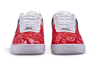 View 5. Thumbnail of Lot 118. Custom Air Force 1, by Opal Lee, Niko Brim, & Sierato in honor of Juneteenth Holiday Campaign, Size 10.5.