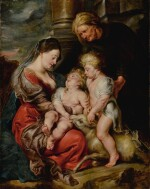 SIR PETER PAUL RUBENS | THE VIRGIN AND CHRIST CHILD, WITH SAINTS ELIZABETH AND JOHN THE BAPTIST