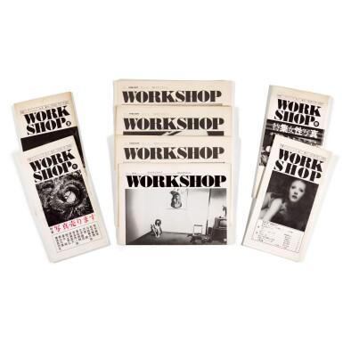 View 1. Thumbnail of Lot 10.  WORKSHOP COLLECTIVE (SHOMEI TOMATSU; DAIDO MORIYAMA; NOBUYUSHI ARAKI; EIKOH HOSOE; MASAHISA FUKASE; NORIAKI YOKOSUKA ET. AL.) |  WORKSHOP VOL 1-8, SEPTEMBER 1974-JULY 1976.
