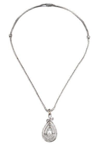 View 3. Thumbnail of Lot 649. Diamond necklace, circa 1910 | 鑽石項鏈,約1910年.