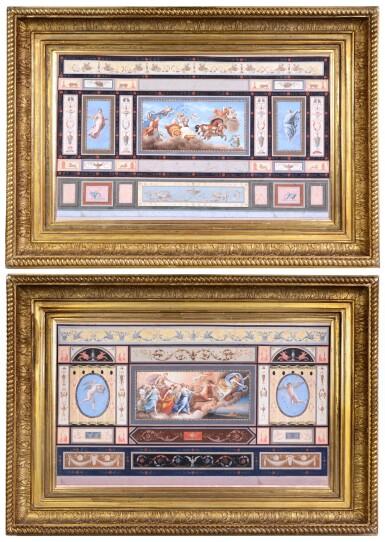 View 2. Thumbnail of Lot 193. TOMASSO BIGATTI | CEILING FRESCOES DEPICTING AURORA AND APOLLO, CIRCA 1800, AFTER GUIDO RENI (1575-1642).
