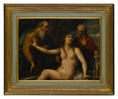 View 3. Thumbnail of Lot 41. Susanna and the Elders.