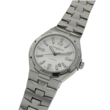 View 2. Thumbnail of Lot 185.  VACHERON CONSTANTIN   REF 47040 OVERSEAS, A STAINLESS STEEL AUTOMATIC CENTER SECONDS WRISTWATCH WITH DATE AND BRACELET CIRCA 2010.
