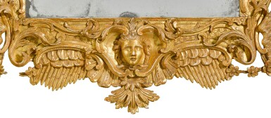 View 2. Thumbnail of Lot 67. A George II carved giltwood wall mirror, probably Irish, mid-18th century.