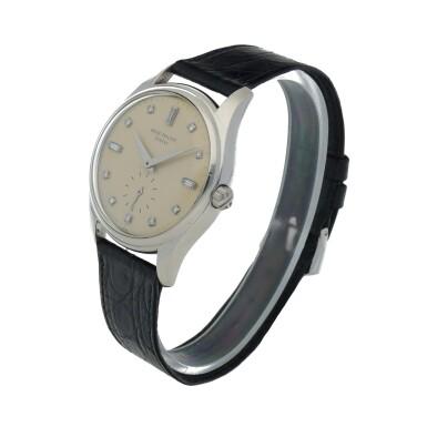 View 2. Thumbnail of Lot 78. Ref. 2526P Platinum and diamond-set wristwatch Made in 1954 | 百達翡麗 2526P型號鉑金鑲鑽石腕錶,1954年製.