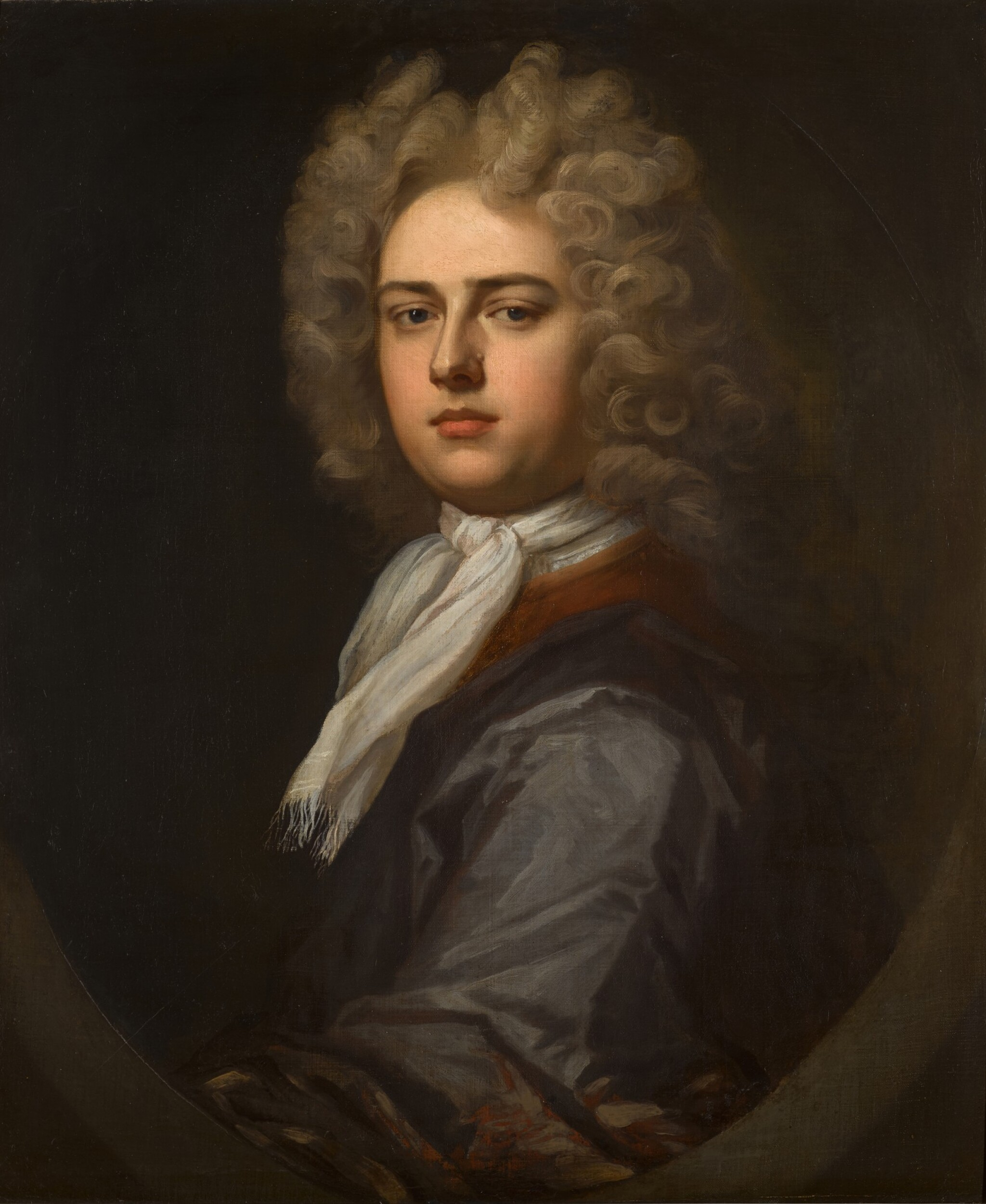 View full screen - View 1 of Lot 136. Portrait of the Hon. Thomas Coke (1674-1727) of Melbourne Hall, bust-length.
