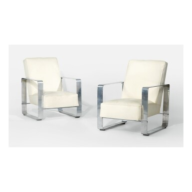 JACQUES ADNET | PAIR OF ARMCHAIRS