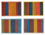 Uneven Vertical Bands of Color VII II; Uneven Vertical Bands of Color VI III; Uneven Vertical Bands of Color X IV; Uneven Vertical Bands of Color II [four works]