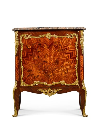 View 2. Thumbnail of Lot 16. A LOUIS XV STYLE GILT-BRONZE MOUNTED MARQUETRY SIDE CABINET, BY FRANÇOIS LINKE, CIRCA 1900.