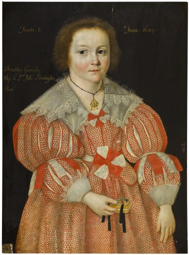 View 1. Thumbnail of Lot 25. Portrait of Dorothy Coventry, later Lady Packington (1623-1679), when a child.