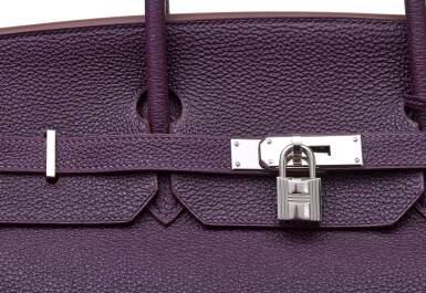 View 7. Thumbnail of Lot 367. Raisin Birkin 40cm in Togo Leather with Palladium Hardware, 2008.