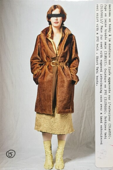 View 5. Thumbnail of Lot 142. Martin Margiela, Fall-Winter 2003-2004, Look 15 or 17   Martin Margiela, Automne-Hiver 2003-2004, Look 15 ou 17.