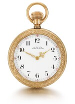 AMERICAN WATCH CO., WALTHAM  [ American Watch Co., 沃爾瑟姆]    A RARE SMALL GOLD OPEN-FACED KEYLESS LEVER WATCH WITH ROCK CRYSTAL MOVEMENT  CIRCA 1890  [ 罕有小型黃金懷錶備水晶機芯,年份約1890]
