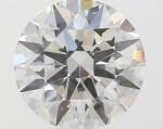 A 1.03 Carat Round Diamond, H Color, SI1 Clarity