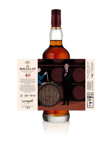 View 5. Thumbnail of Lot 1. The Macallan Red Collection with Exclusive Labels Illustrated by Javi Aznarez (6 bts 70cl).