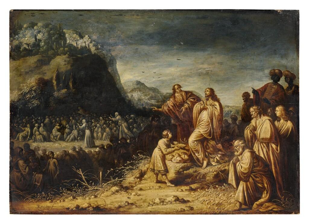 ROMBOUT VAN TROYEN   CHRIST FEEDING THE MULTITUDE