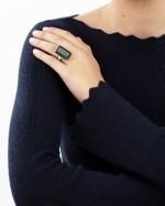 Tourmaline and diamond ring [Bague tourmaline et diamants]