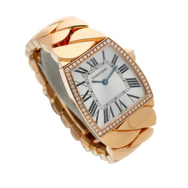 View 3. Thumbnail of Lot 19. Reference 2896 La Dona  A pink gold and diamond-set bracelet watch, Circa 2010.