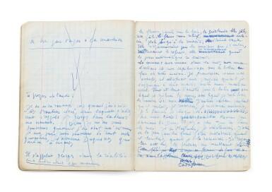 View 8. Thumbnail of Lot 143. La Bâtarde. 1958-1963. Important manuscrit autographe, premier jet. 23 cahiers, env. 2048 p. ms. .